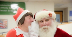 Santa Randy with Elf